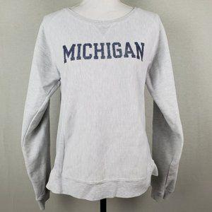 VTG Champion Michigan Womens Distressed Sweatshirt